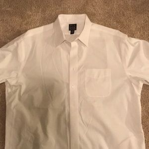 Jos. A Bank long sleeve white collared shirt